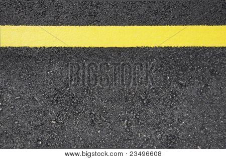 Street with culor line