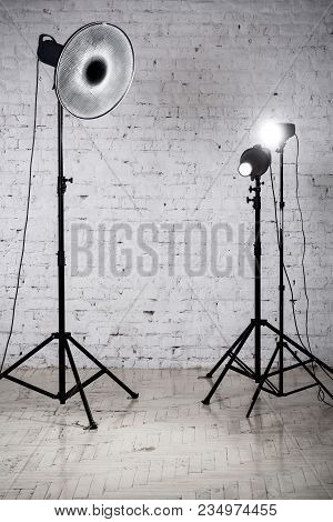 The Photographic Studio Equipment And Accessories In The Studio