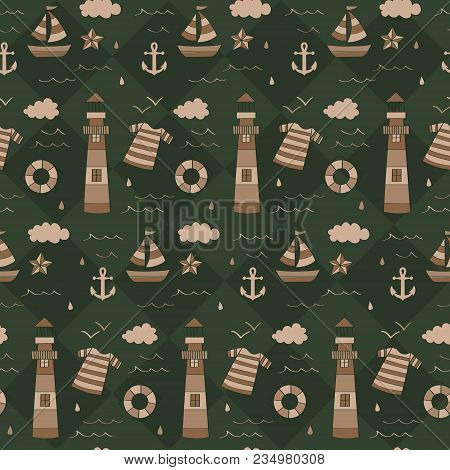 Vintage Army Nautical Sailor Pattern. A Vintage, Modern, And Flexible Pattern For Brand Who Has Matu