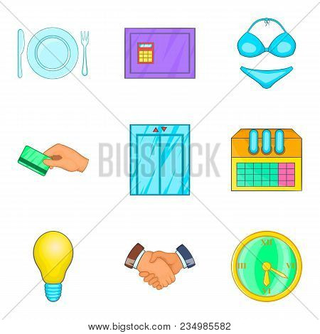 Business Meeting Icons Set. Cartoon Set Of 9 Business Meeting Vector Icons For Web Isolated On White