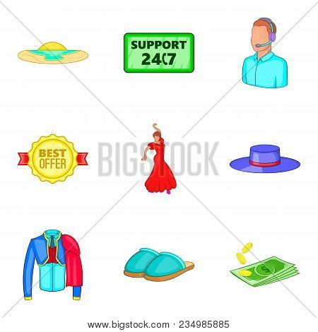 Admission Icons Set. Cartoon Set Of 9 Admission Vector Icons For Web Isolated On White Background