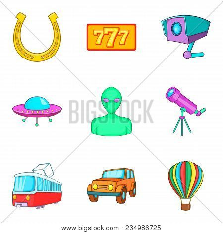 Inspection Icons Set. Cartoon Set Of 9 Inspection Vector Icons For Web Isolated On White Background
