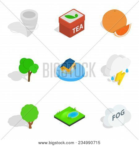 Fix Vital Icons Set. Isometric Set Of 9 Fix Vital Vector Icons For Web Isolated On White Background