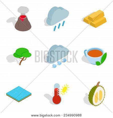 Eco Vital Icons Set. Isometric Set Of 9 Eco Vital Vector Icons For Web Isolated On White Background