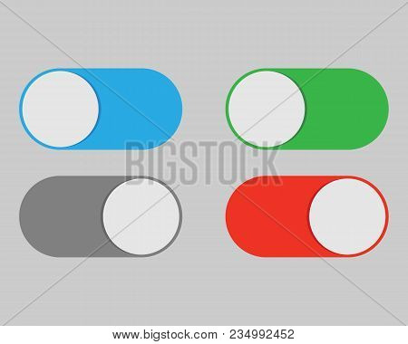On And Off Switch Toggle Isolated Onbackground. Vector Illustration. Eps 10.