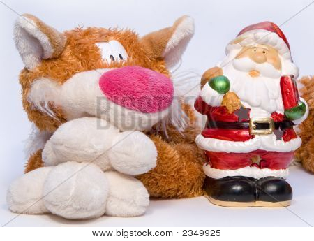 Christmas  Father And Cat - Toy