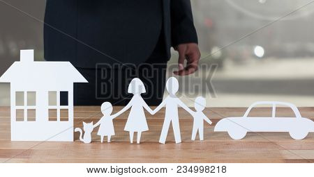 Cut outs of House Family and Car with model