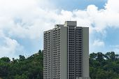 High rise condominiums & residential building at Kota Kinabalu,Sabah,Borneo.Sabah is one of the Malaysia most expensive residential property markets. poster