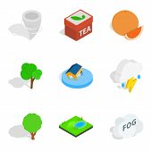 Fix vital icons set. Isometric set of 9 fix vital vector icons for web isolated on white background poster