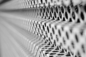 Image Of A Metal Mesh As A Background Close-up