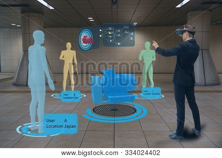 Engineering Meeting People By Use Augmented Mixed Virtual Reality With Digital Twins, Advanced Seism