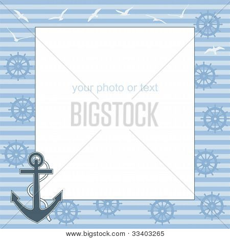 Frame For Text Or Photo From The Anchor