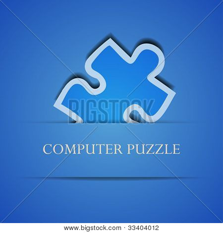Vector Creative Computer Puzzle Background. Eps 10 Illustration