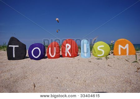 Tourism, travel for leisure of business on stones