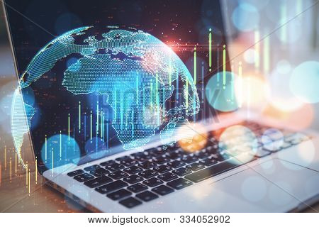 Global Data And Finance Concept