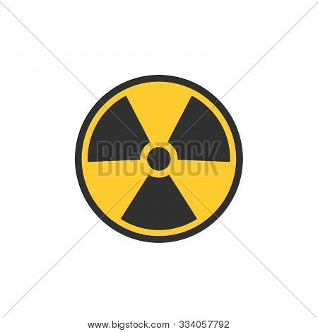 Radioactive Contamination Symbol. Nuclear Sign. Radiation Hazard. Radiation Warning Sign. Stock Vect