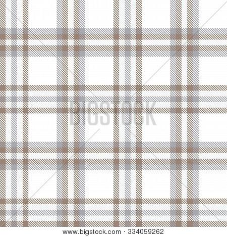 Classic Modern Plaid Tartan Seamless Pattern In Vector
