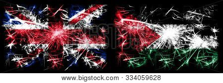 Great Britain, United Kingdom Vs Palestine, Palestinian New Year Celebration Travel Sparkling Firewo