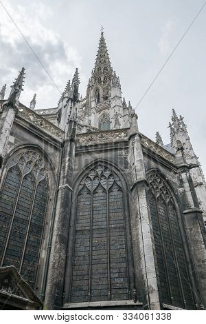 View Of The Historic Flamboyant Gothic Church Of Saint-maclou In Rouen
