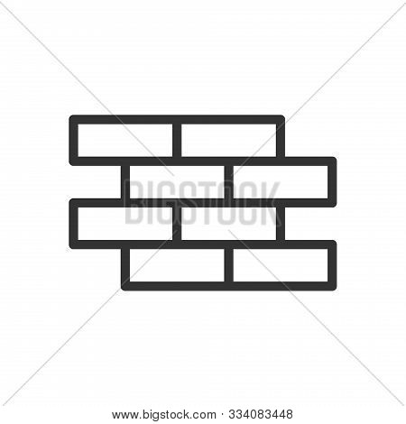 Brickwork Outline Ui Web Icon. Brickwork Vector Icon For Web, Mobile And User Interface Design Isola