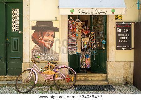 Lisbon, Portugal, - June, 3, 2019: A Gift Shop In The Olt Town Of Lisbon, Portugal.