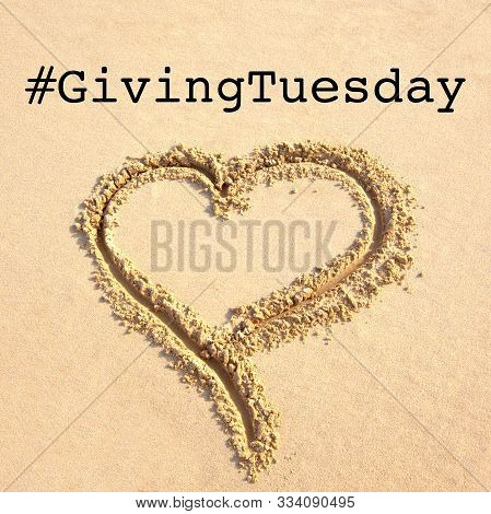 Giving Tuesday Is A Global Day Of Charitable Giving After Black Friday Shopping Day. Charity, Give H