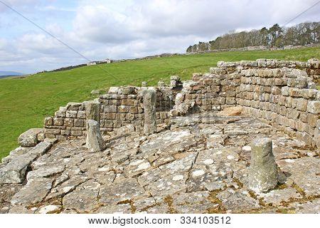 Roman Remains At Housesteads, Hadrians Wall, Northumberland