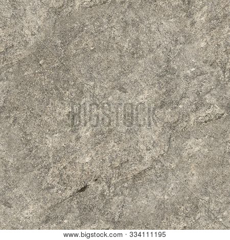 Gray Concrete Wall, Texture Can Be Used For Interior Design. Seamless Square Texture Grungy Stucco A