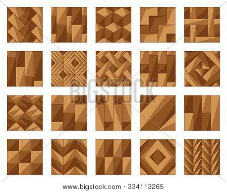 Parquet Floor Cartoon Vector Illustration On White Background .wood Floor Set Icon.vector Illustrati