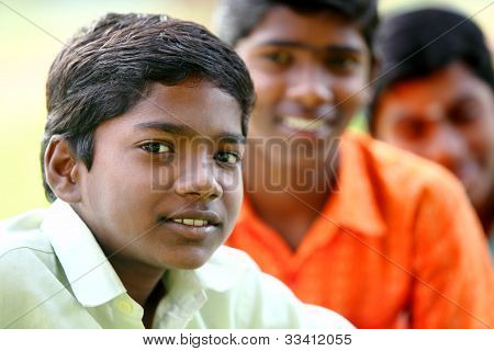 Group of Indian teen boys
