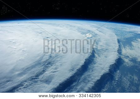 Tsunami From Space Elements Of This Image Were Furnished By Nasa.