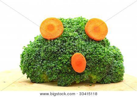 Fresh broccoli and carrot concept agape