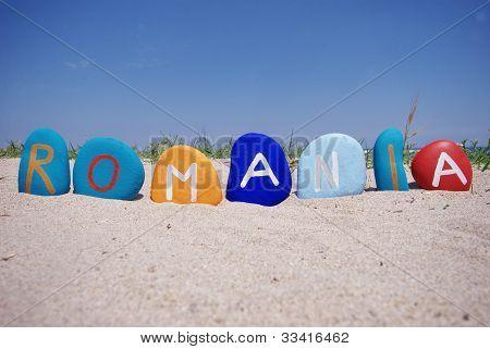 Romania multicolor on the sand