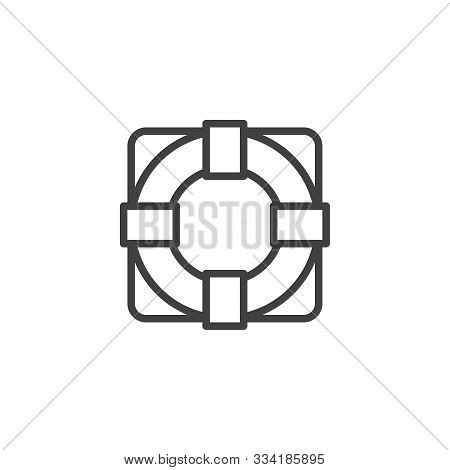Life Buoy Line Icon. Linear Style Sign For Mobile Concept And Web Design. Life Saver Outline Vector