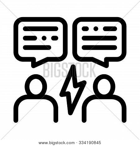 Voting Debate Icon Vector. Outline Voting Debate Sign. Isolated Contour Symbol Illustration