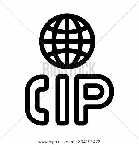 Voip Ip Calling System Icon Vector. Outline Voip Ip Calling System Sign. Isolated Contour Symbol Ill