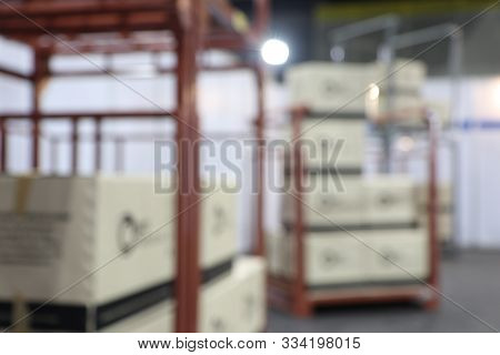 Blur Warehouse Inventory Product Stock For Logistic Background ;