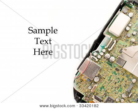 Circuit Board With Space For Text