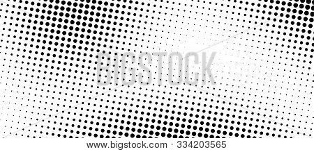 Abstract Halftone Gradient Background. Monochrome Points Abstract Illustration With Dots. Printing R