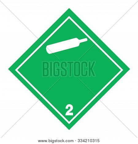 Adr Pictogram For Non Toxic And Non Flammable Gases