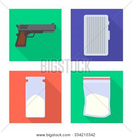 Vector Design Of Remedy And Medicine Sign. Set Of Remedy And Chemistry Stock Vector Illustration.
