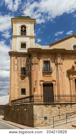 Tower Of The Santiago Church In Lorca, Spain