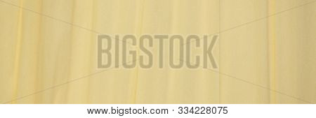 cream crepe paper - background with crinkled texture, panoramic banner poster