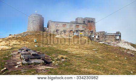Observatory Ruins Pip Ivan On Top Of Mount Pip Ivan, Carpathia Mountains, Trans Carpathia, Ukraine