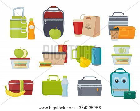 Lunch Box. Fruits And Vegetables For Kids Dinner Lunch Drinks And Foods Banana Juice Sandwich Produc