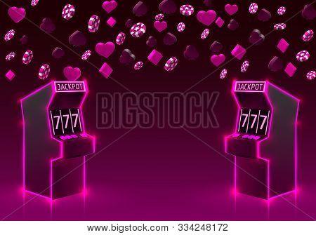 3d Slots Machine Wins Vector Photo Free Trial Bigstock