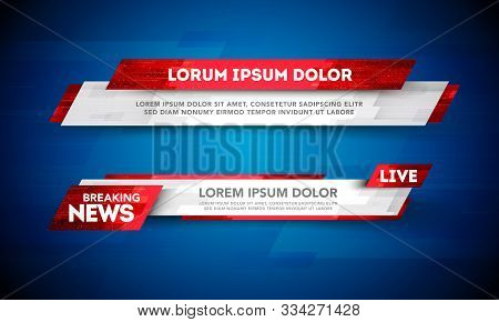 Vector Illustration Lower Third Template Breaking News Header