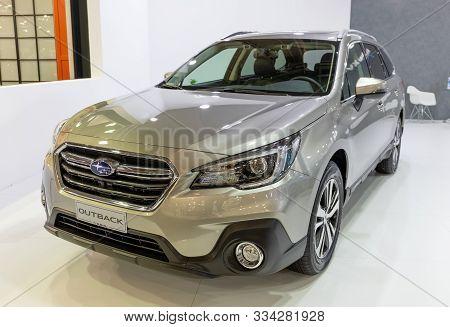 Athens, Greece - November 15, 2019: Subaru Outback At Aftokinisi Anytime 2019 Motor Show.