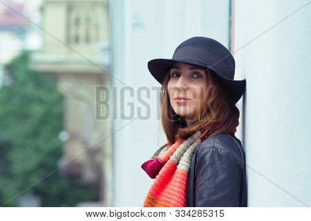 Woman Portrait In City Street. Woman City Life Lifestyle. City People. Beautiful People. Woman Portr