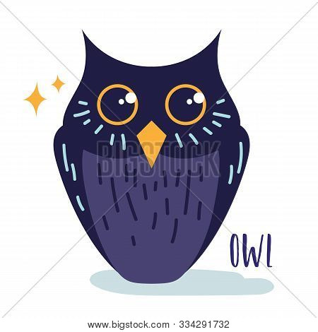 Magic Witchcraft Element - Owl, Witch Familiar. Vector